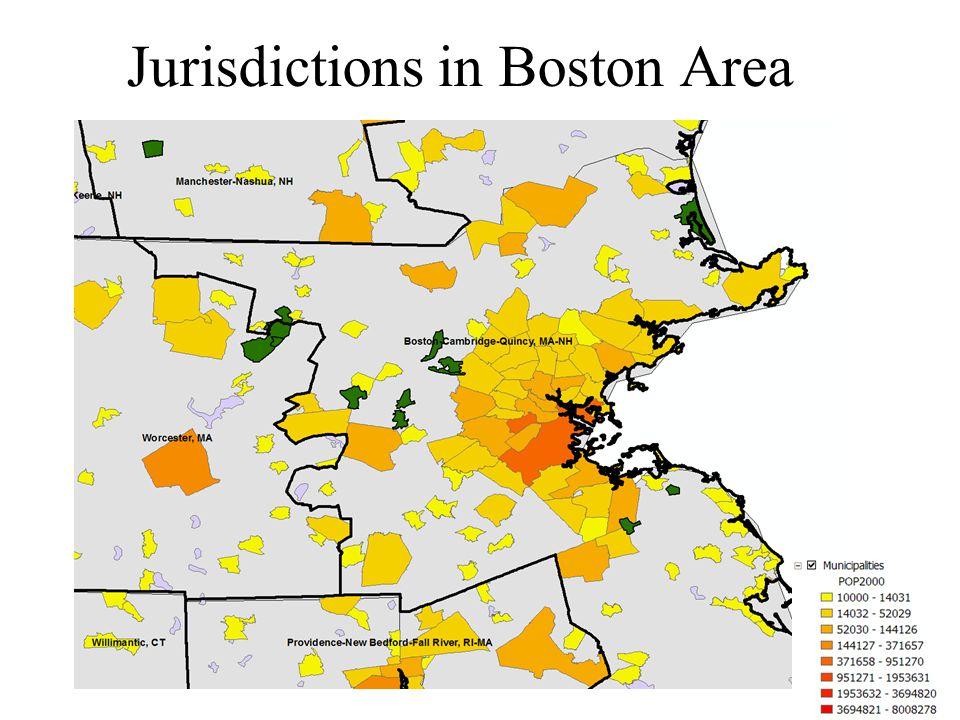 Jurisdictions in Boston Area
