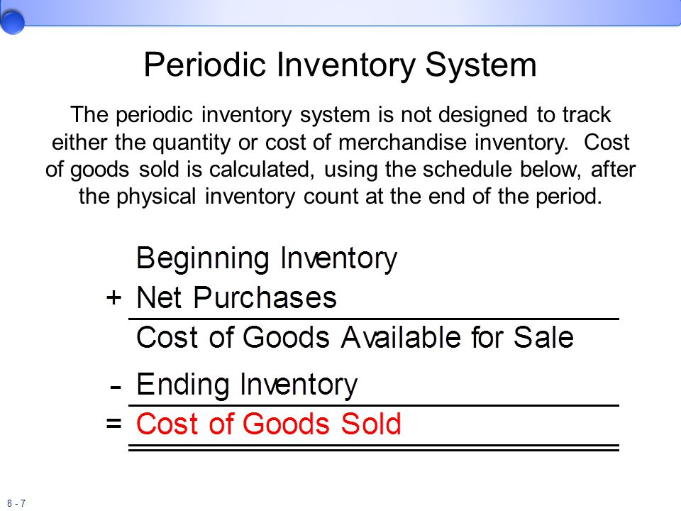 8 - 8 Periodic Inventory System Lothridge Wholesale Beverage Company (LWBC) begins 2011 with $120,000 in inventory.