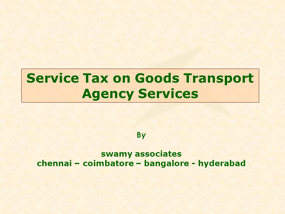 Definitions Goods Transport Agency means any commercial concern which provides service in relation to transport of goods by road and issues consignment note, by whatever name called.