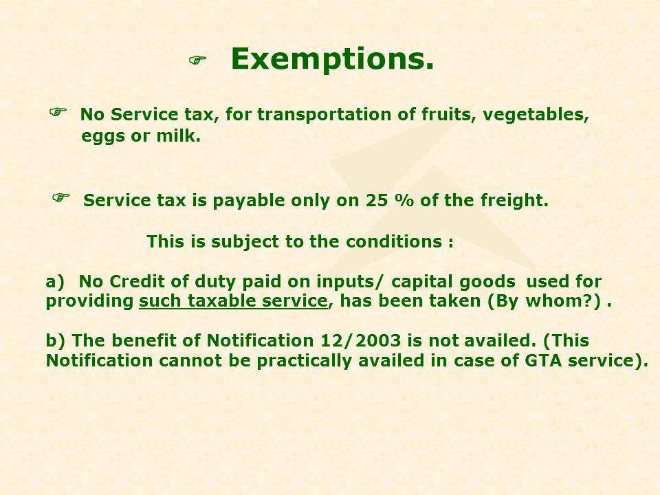 Exemptions...