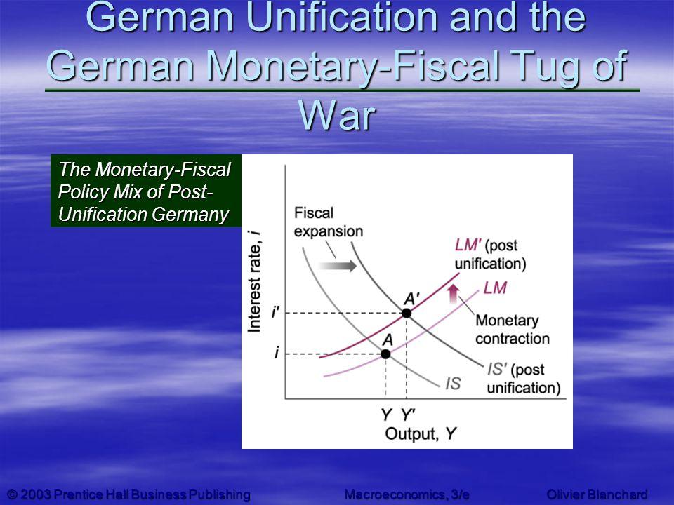 © 2003 Prentice Hall Business PublishingMacroeconomics, 3/e Olivier Blanchard German Unification and the German Monetary-Fiscal Tug of War The Monetar