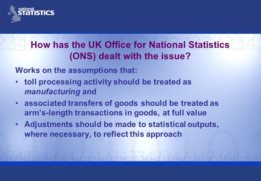 How has the UK Office for National Statistics (ONS) dealt with the issue.