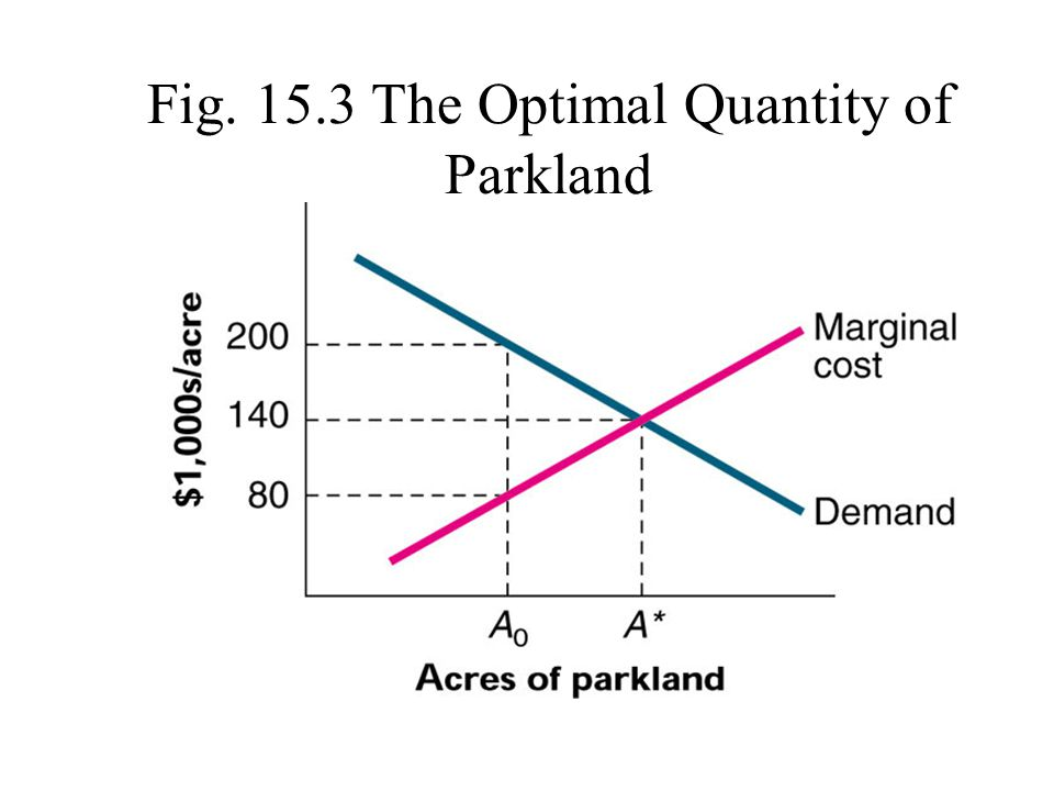 Fig. 15.3 The Optimal Quantity of Parkland