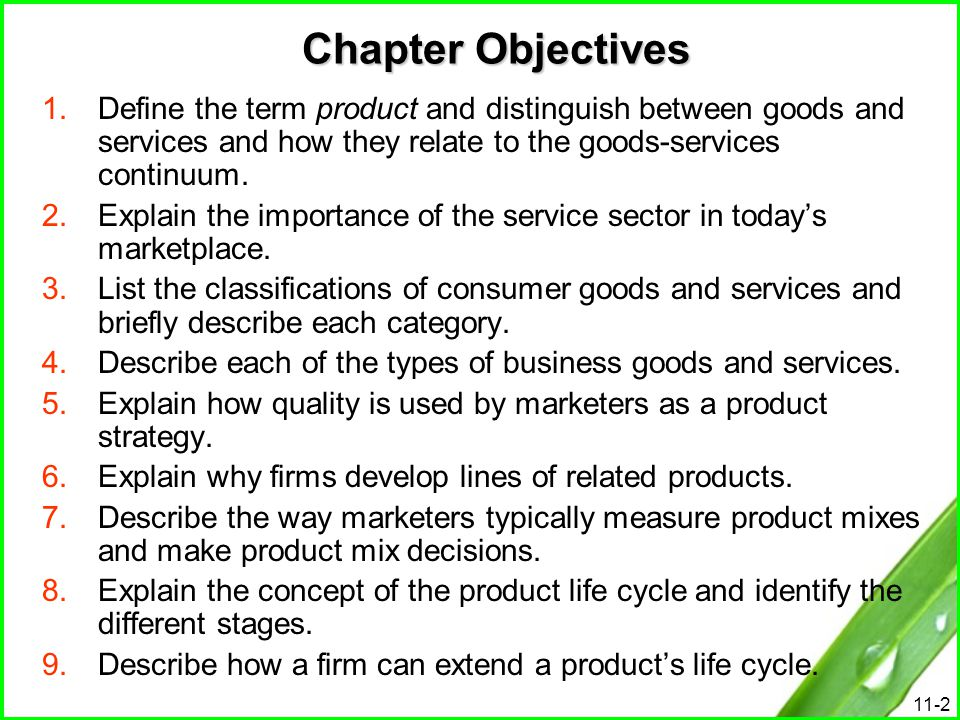 11-23 Quality as a Product Strategy Quality Quality is a key component to a firms success in a competitive marketplace.