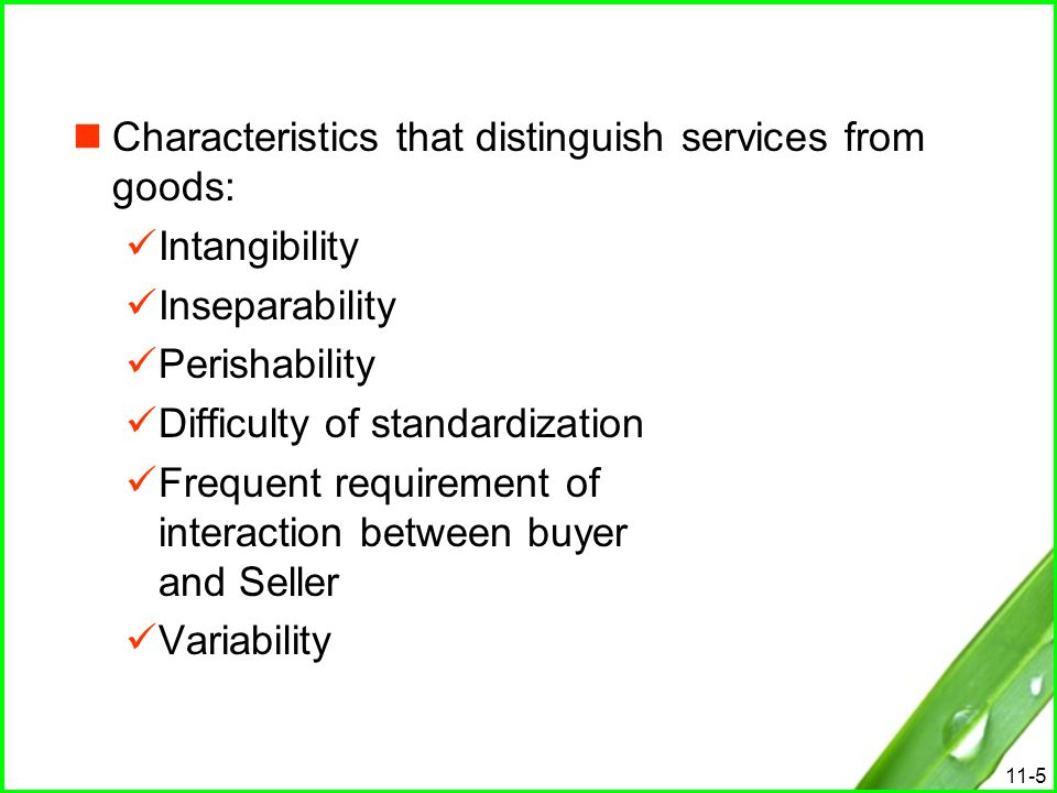 11-6 Importance of the Service Sector The service sector makes up more than two- thirds of the economy.