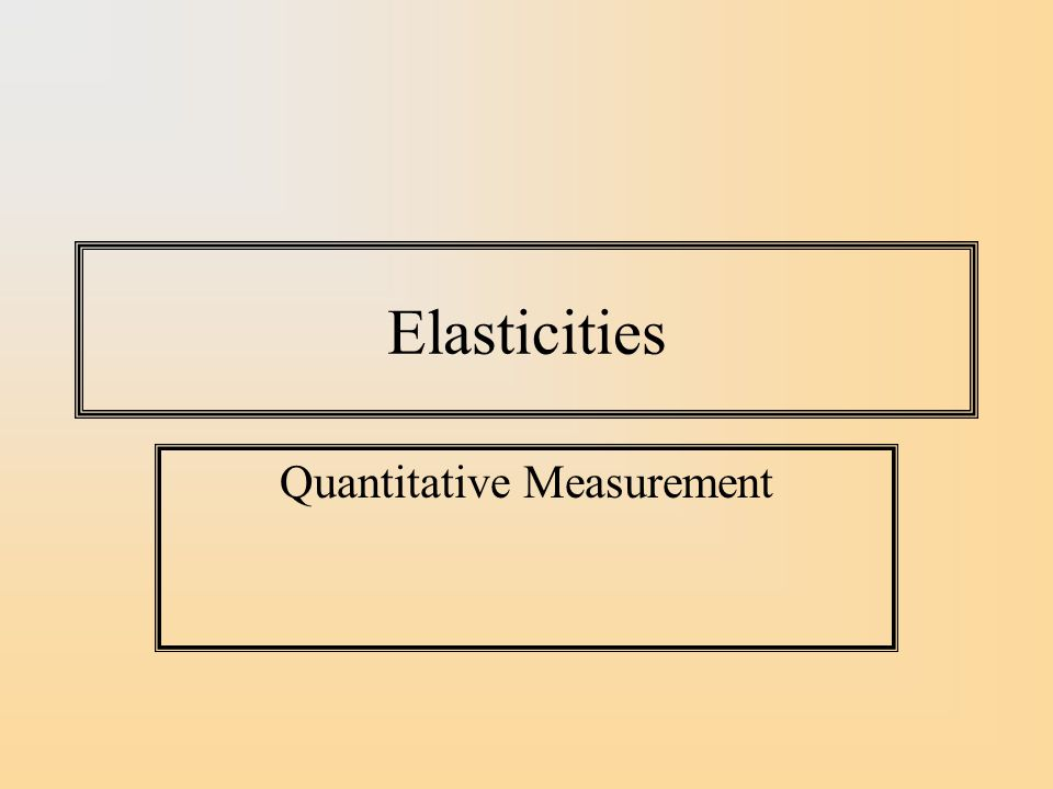 Income Elasticity We measure the effect of income on demand for a good as % effect on demand of a 1% increase in income.