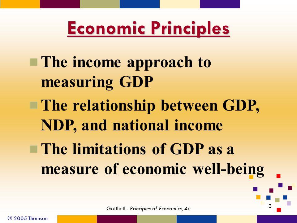 © 2005 Thomson 34 Gottheil - Principles of Economics, 4e Exhibit 4: Expenditure Approach to 2003 GDP ($ billions) 1.