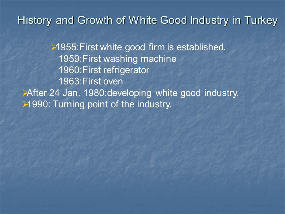 The structure of White Good IndustryThe structure of White Good Industry Names,Numbers Market Shares of Firms Products and Product Differentiation