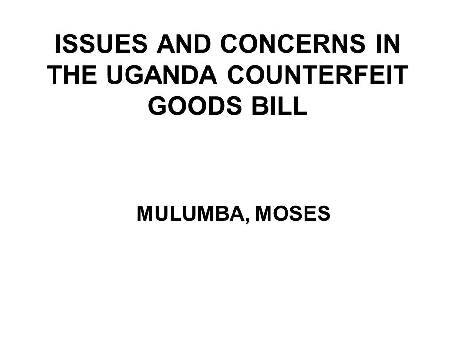 NDAs Role Cont In section 19, the Commissioner of Customs is granted wide discretion in determining what a counterfeit product without giving room to expert regulatory agencies to participate in this determination.
