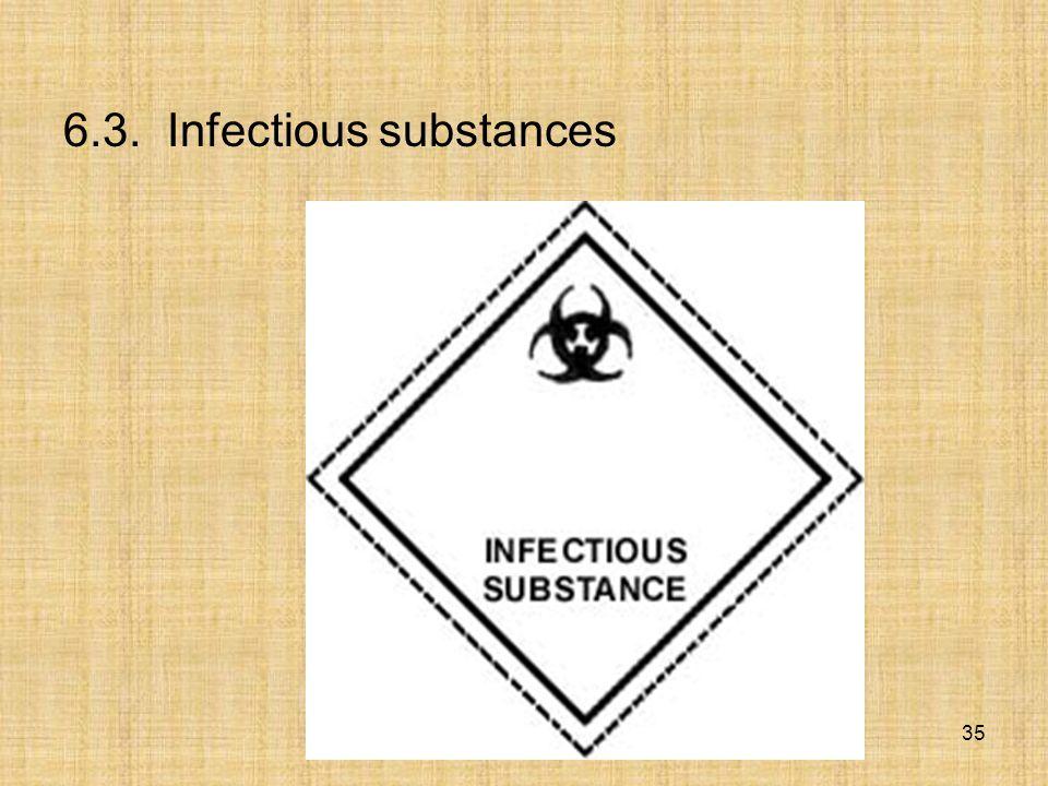 6.3. Infectious substances 35