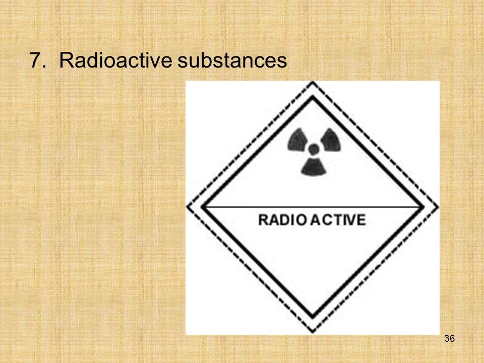 7. Radioactive substances 36