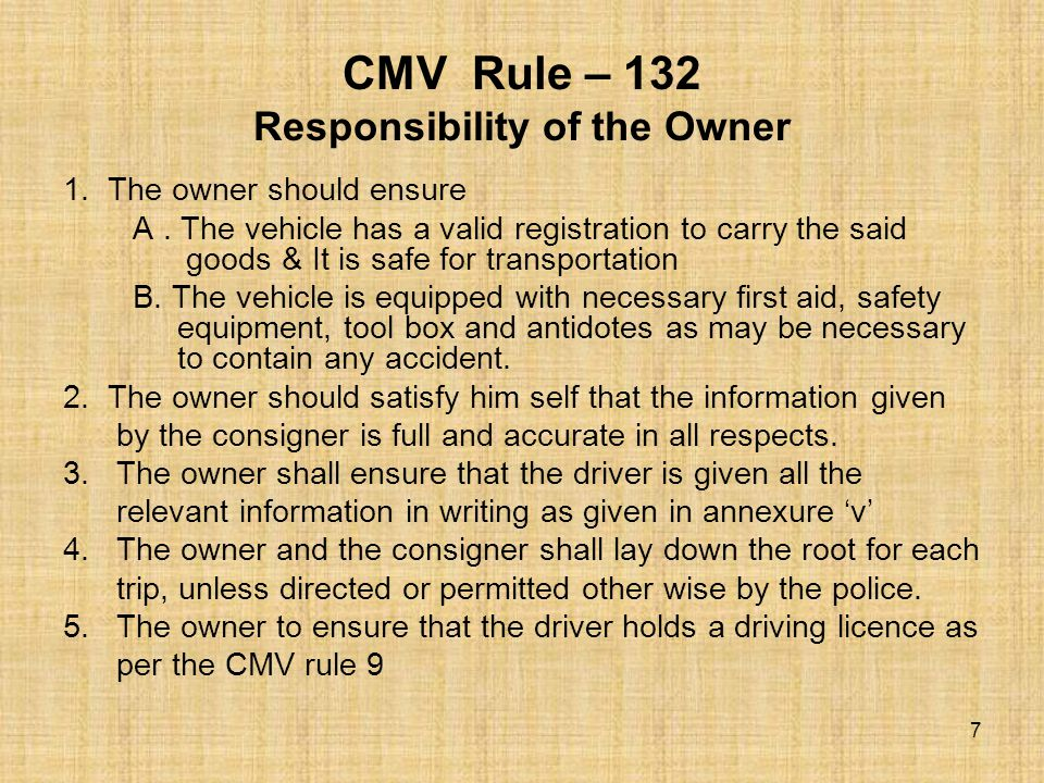 9 Keep other people away from the vehicle.10 Load the vehicle according to permit and R.C book.