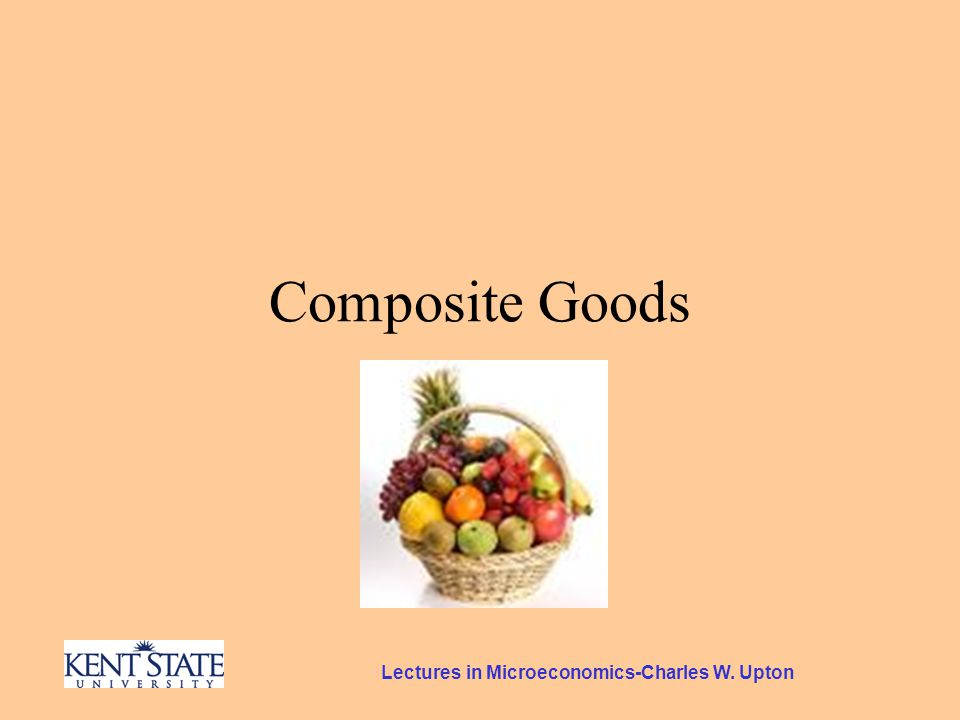 Composite Goods A Twist on the Peach Problem Suppose she had been offered another deal.