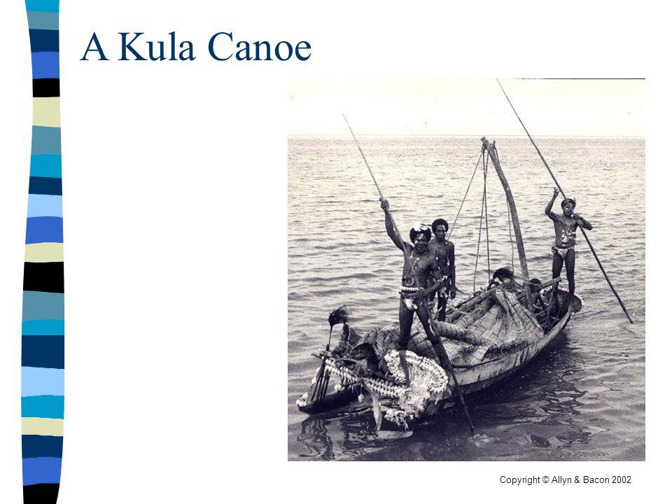 Copyright © Allyn & Bacon 2002 A Kula Canoe