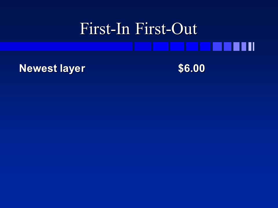 First-In First-Out Newest layer$6.00