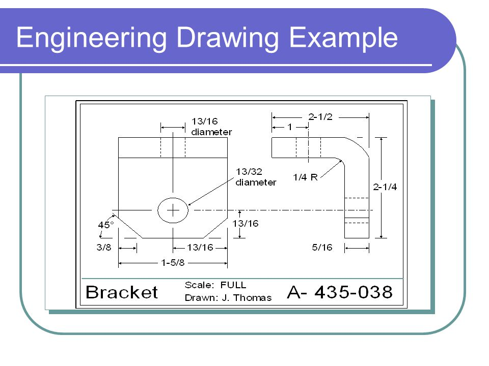 Engineering Drawing Example