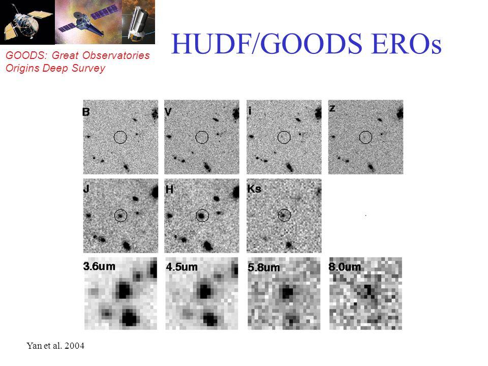 GOODS: Great Observatories Origins Deep Survey HUDF/GOODS EROs Yan et al. 2004