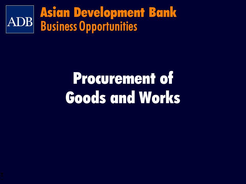 BOS 2 Asian Development Bank Procurement System – Principles Key Principles Source of Procurement Economy and Efficiency Fairness Transparency Promotion of Domestic Industries