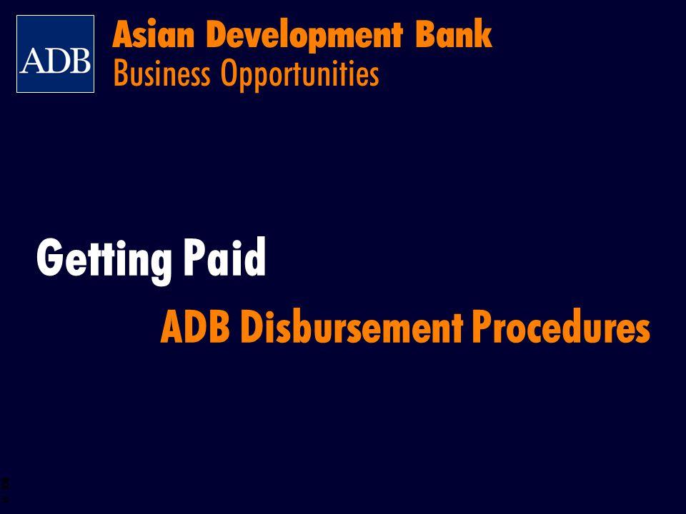 BOS 61 Asian Development Bank Business Opportunities Getting Paid ADB Disbursement Procedures