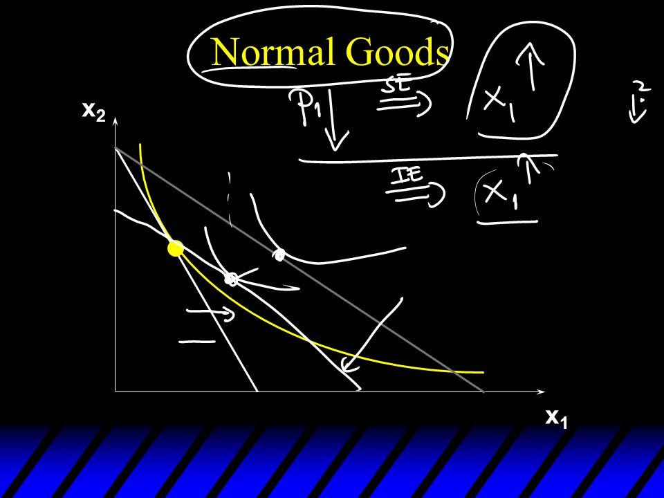 x2x2 x1x1 Normal Goods