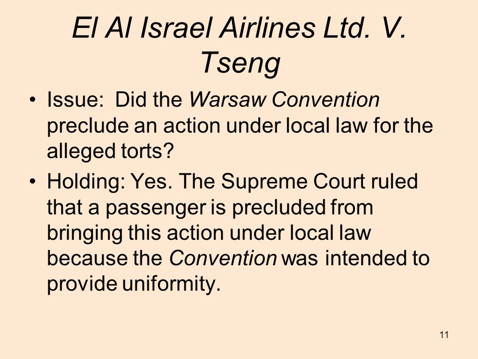 11 El Al Israel Airlines Ltd. V.