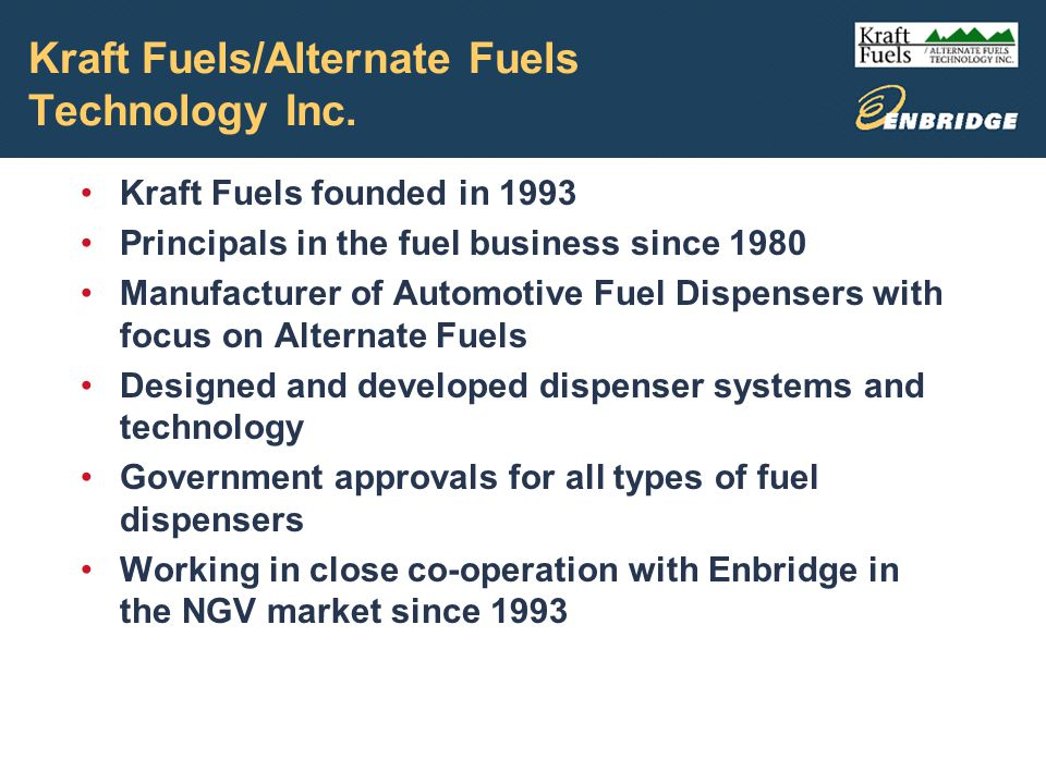 Kraft Fuels/Alternate Fuels Technology Inc.