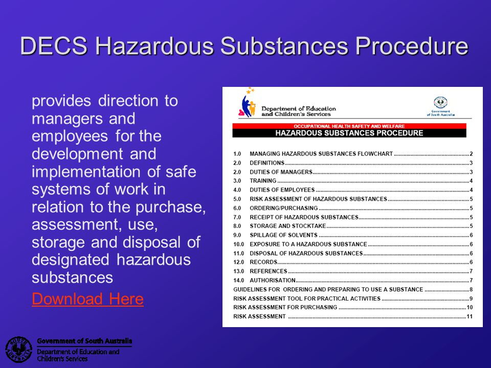 Control Options Personal Protective Equipment (PPE) is the last option in the Hierarchy of ControlsHierarchy of Controls Ensure appropriate control measures are in place when handling hazardous substances PPE should be provided by Site Managers and worn by employees when required In special circumstances, information, instruction and training must be provided on the use and maintenance of PPE