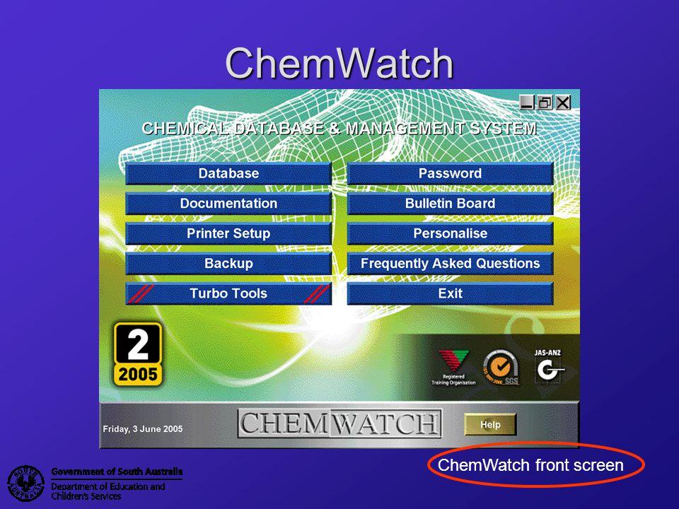 Hazardous/Non Hazardous ChemWatch identifies the hazardous status of substances