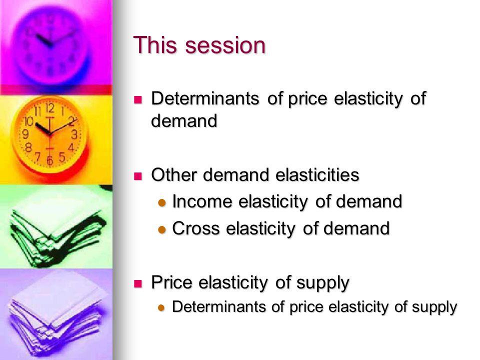 Determinants of price elasticity