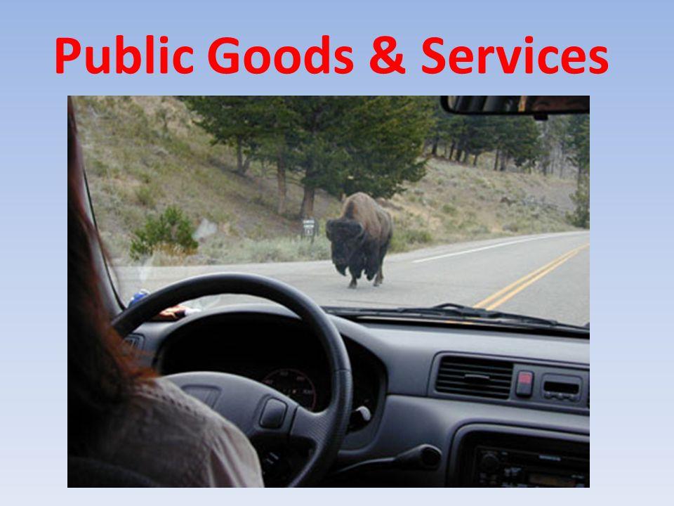 Public Goods & Services