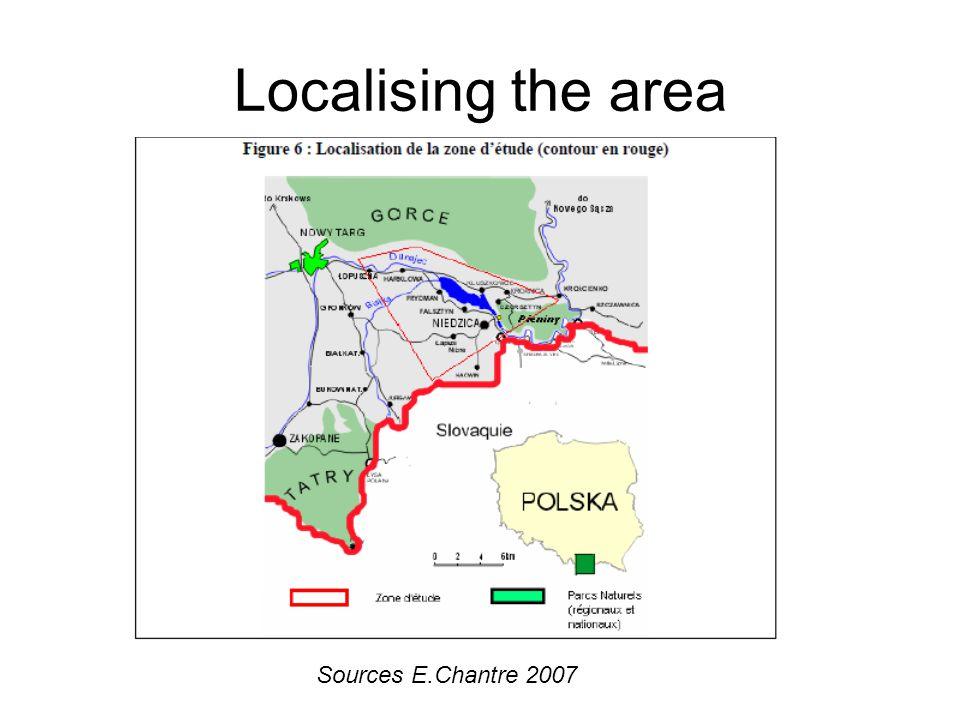 Localising the area Sources E.Chantre 2007