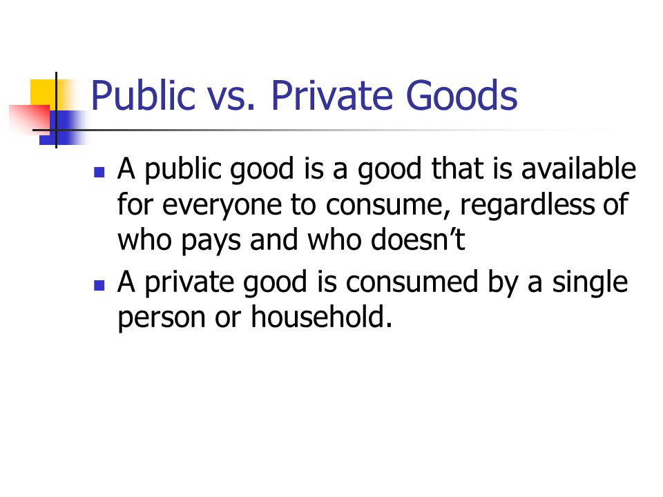Definitions Public goods are: 1.non-rival: available to everyone to use 2.