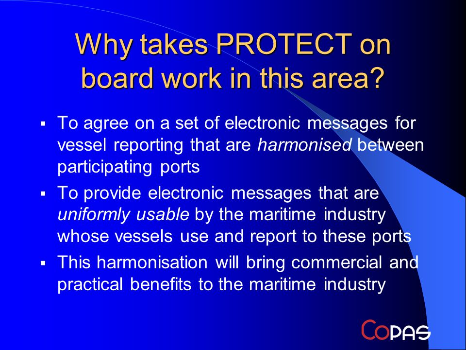 Why takes PROTECT on board work in this area.