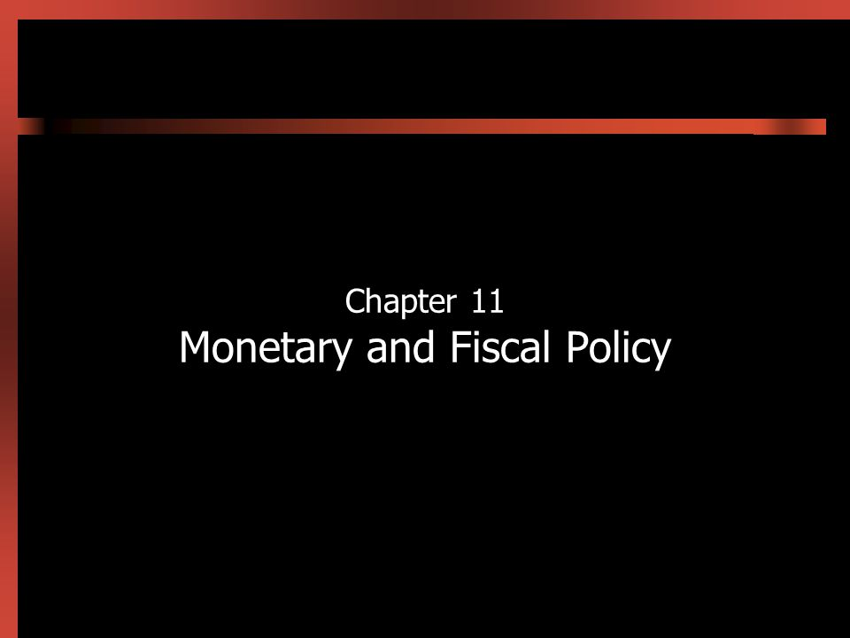 11-2 Introduction In this chapter we use the IS-LM model developed in Chapter 10 to show how monetary and fiscal policy work Fiscal policy has its initial impact in the goods market Monetary policy has its initial impact mainly in the assets markets Because the goods and assets markets are interconnected, both fiscal and monetary policies have effects on both the level of output and interest rates Expansionary/contractionary monetary policy moves the LM curve to the right/left Expansionary/contractionary fiscal policy moves the IS curve to the right/left