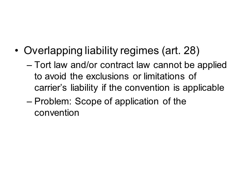 The liability of the subcarrier Carriage performed by successive carriers (art.