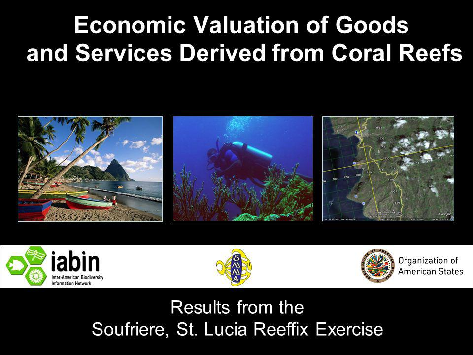 Economic Valuation of Goods and Services Derived from Coral Reefs Results from the Soufriere, St.