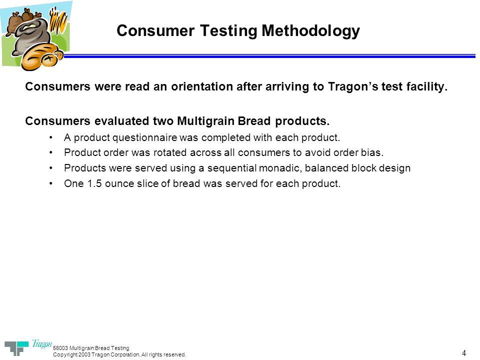 56003 Multigrain Bread Testing Copyright 2003 Tragon Corporation.