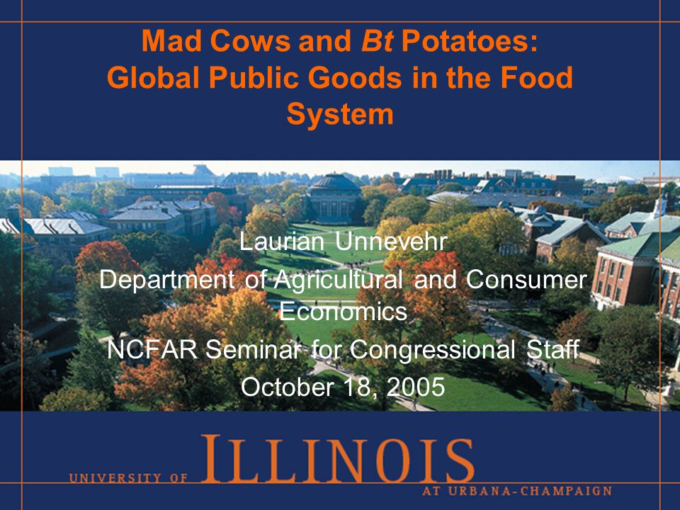 Mad Cows and Bt Potatoes on the Hill Innovation as GPG – Unresolved Issues How can incentives be provided for new technologies with limited private benefit and large public benefit.