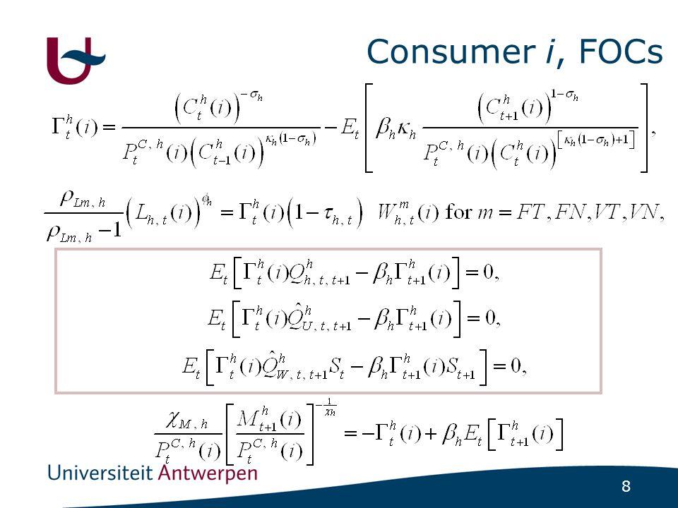 8 Consumer i, FOCs