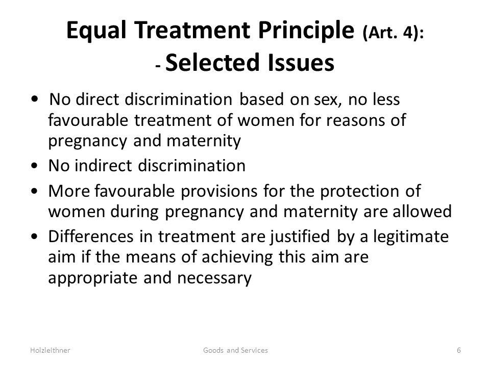 Equal Treatment Principle (Art.