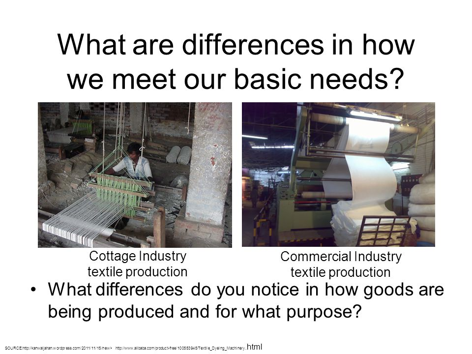 What are differences in how we meet our basic needs.