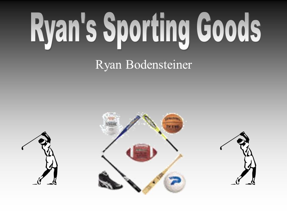 Executive Summary Ryans Sporting Goods will do the following to succeed: –Provide athletic apparel, equipment, and merchandise –Locate at 6th and Wakarusa An untapped area –Appeal to active adults and youths (12-40 year olds) –Implement a three pronged marketing strategy Advertising, location, and word-of-mouth –Rely on a sound financial plan that will quickly enable the store to make a profit