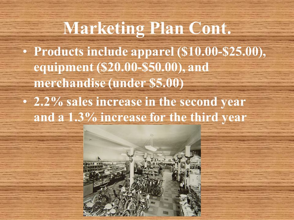 Marketing Plan Cont.