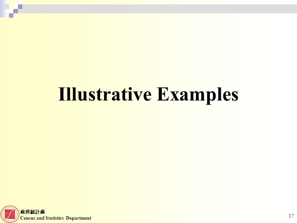 Census and Statistics Department 17 Illustrative Examples