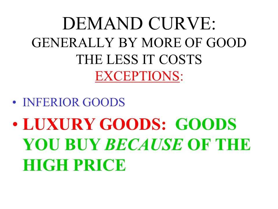 FACTORS AFFECTING DEMAND PERSONAL TASTE INCOME PRICE OF COMPLEMENTARY GOODS PRICE OF SUBSTITUTES