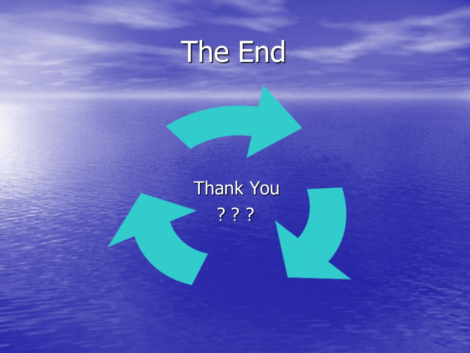 The End The End Thank You Thank You ? ? ? ? ? ?