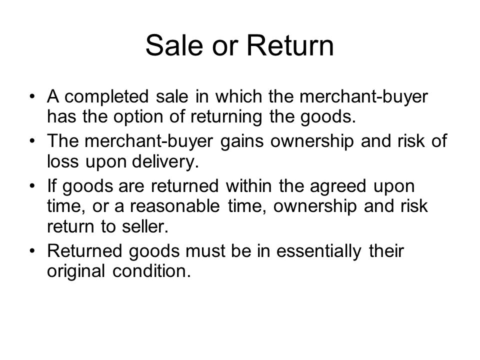 Consignment Sales Example: Jean owns a retail clothing store.