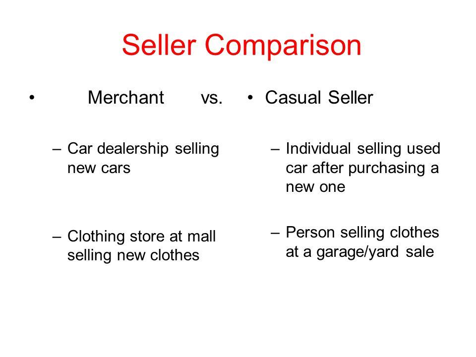 Seller Comparison Merchant vs.