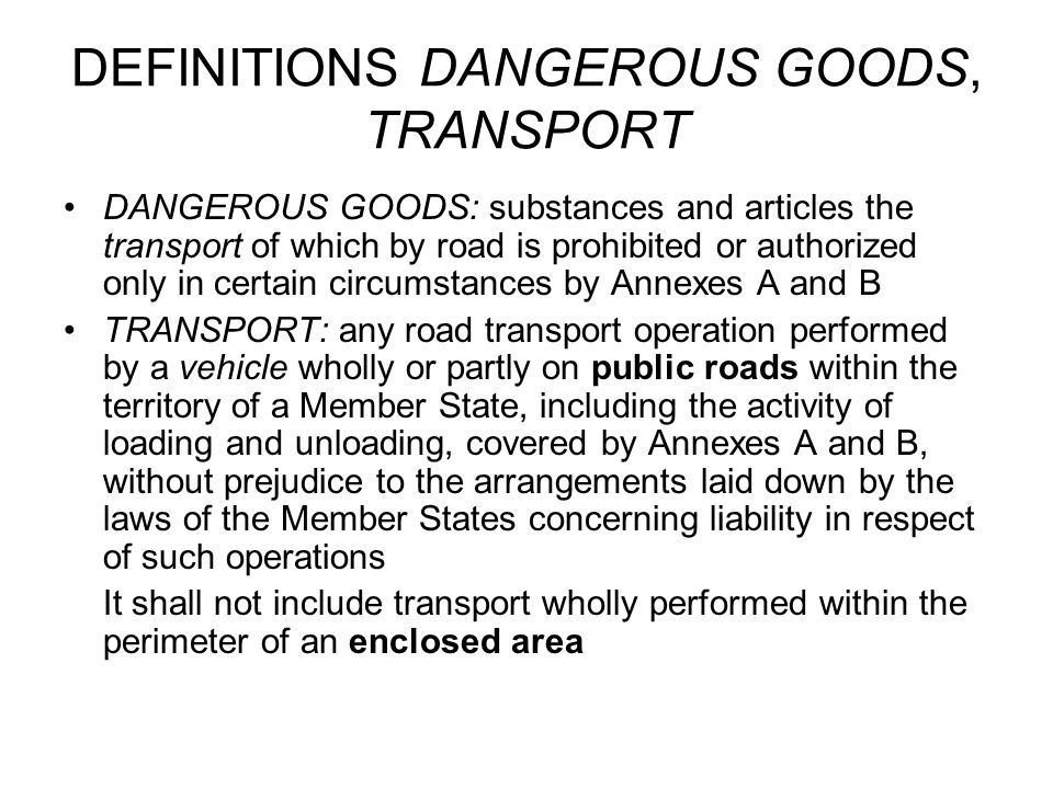 DEFINITION VEHICLE motor vehicle + trailer for use on the road at least four wheels excepted –V.