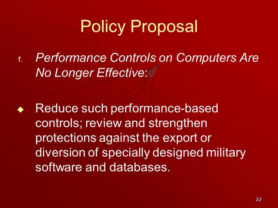 22 Policy Proposal 1.